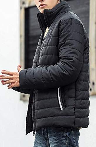 Basamento Packable Piumino Trapuntato Maschile Collare Nero Ttyllmao Leggero Giù fxX5Pqv