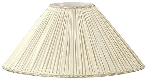 (Royal Designs Beige Pleated Oval Designer Lamp Shade, Beige, (4 x 6.5) x (12 x 21.5) x 12.5)