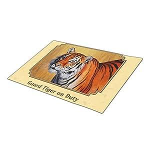 Tiyan Decorative Door Mats Bengal Tiger Front Door Rugs