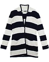 Tommy Hilfiger Women's Stripe Snap Sweater Jacket