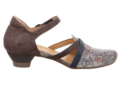 27 Shoes Women's Multicoloured kombi Court 80242 Taupe Multi Think coloured qfEp6nPa