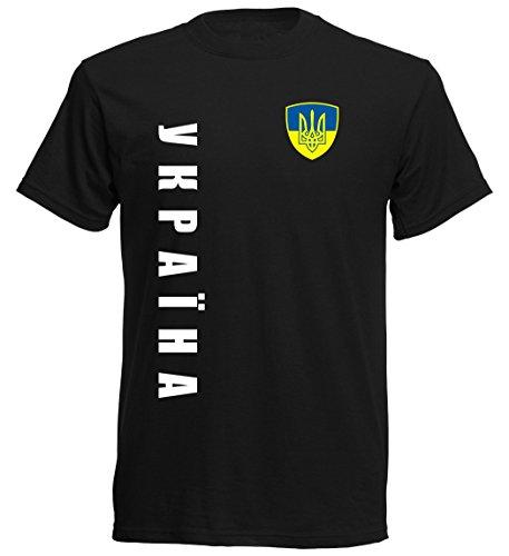 Ukraine EM 2016 T-Shirt Trikot - S M L XL XXL - schwarz 10
