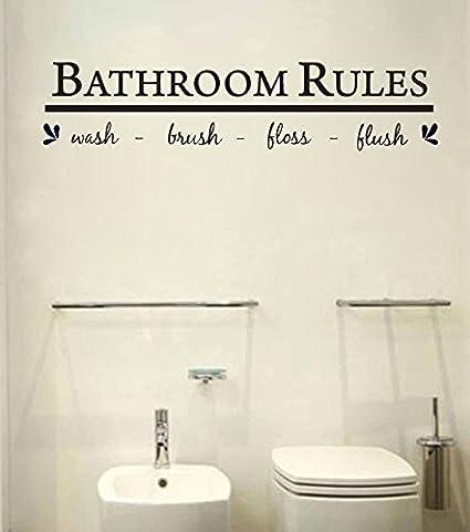 Bathroom wall art decal sticker - - Amazon.com