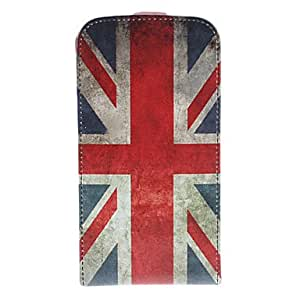 AES - Vintage British Flag Pattern PU Leather Full Body Case for Samsung Galaxy S4 I9500