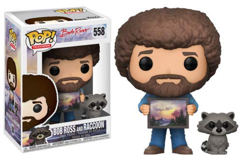 Bob Ross - Bob Ross w/ Raccoon Funko Pop! Television Toy