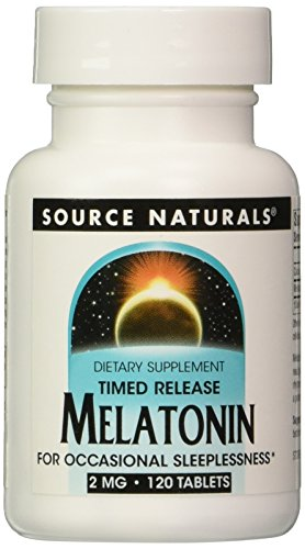 Source Naturals Melatonin 2mg, Time Release, for Occasional