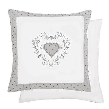Étui housse de coussin motif cœur 40 x 40 cm gris: Amazon.fr