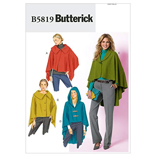 BUTTERICK PATTERNS B5819 Misses' Wrap and Cape, Size ZZ (LRG-XLG-XXL)]()
