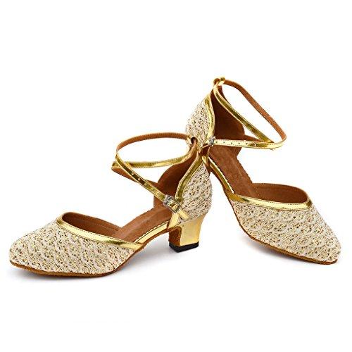 misu , Damen Tanzschuhe Gold gold