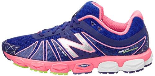 888098239911 - New Balance Women's W890 Neutral Light Running Shoe,Blue/Pink,11 B US carousel main 4