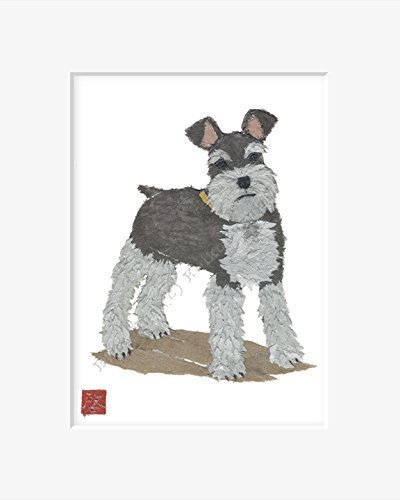 schnauzer-wall-art-matted-print-for-8-x-10-inches-frame-a-schnauzer-gift-idea-by-bless-hue-c-keiko-s