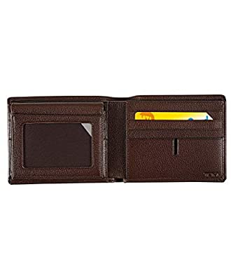 TUMI Men's Nassau ID Lock Global Removable Passcase, dark brown textured, One Size