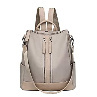 FLORICA Women Backpack Purse Waterproof Rucksack Lightweight School Shoulder Bag Backpack (Beige)