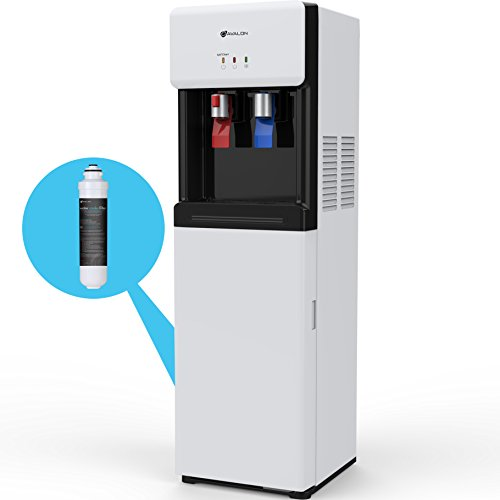 Avalon Self Cleaning Bottleless Water Cooler Dispenser - Hot & Cold Water, Child Safety Lock, Innovative Slim Design - UL/Energy Star Approved- - Water Dispenser Hot Filter