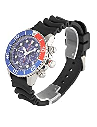 Seiko Men's SSC031 Sport Solar Chronograph Blue Dial Divers Watch