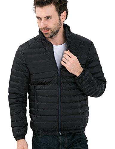 Giù Pulcino Piumino 2017 Packable Uomini Ciliegia Nero Nylon w6RqW