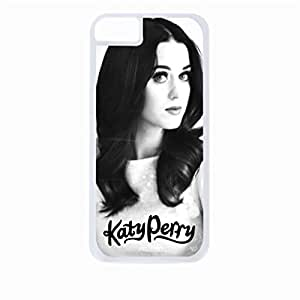 Katy perry portrait - Hard White Plastic Snap - On Case with Soft Black Rubber Lining-Apple Iphone 5c Only - Great Quality! by icecream design