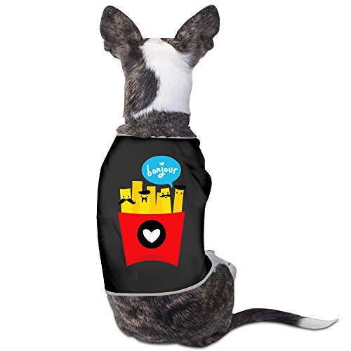 French Fry Costume For Dog (FASHION N WORLD Dog Tshirt Pet Clothes For Small Dog Summer And Autumn Puppy Vest Ployster Dresses For Pets French Fries)