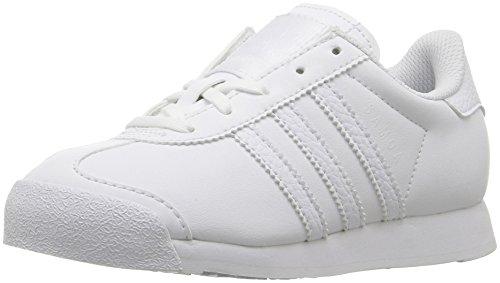 Price comparison product image adidas Originals Kids' Samoa C Skate Shoe, White/White/Light Grey, 1 M US Little Kid