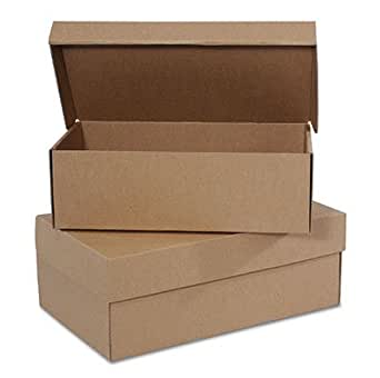 "Amazon.com: 12"" x 7"" x 4"" Kraft Women's Shoe Boxes (25"