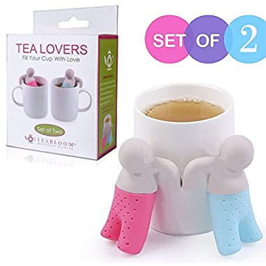 Teabloom® Tea Infuser (Gift Set of 2) - Loose Leaf Tea Infusers - FDA Silicone Tea Strainer & Filter - Tea Maker Gift For Friends & Lovers ***SUPER SALE***