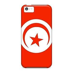 New Design Shatterproof DkrqrEV5262dRAbS Case For Iphone 5c (tunisia Flag)