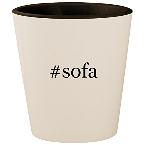 (#sofa - Hashtag White Outer & Black Inner Ceramic 1.5oz Shot Glass)