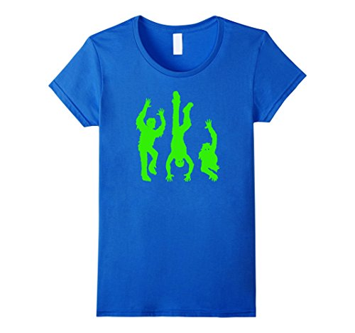 Womens Funny Halloween Shirt for Hip Hop Dancers Creepy Ghouls Small Royal Blue