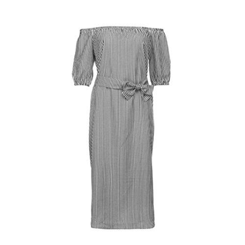 Langes kleid mit halbem arm
