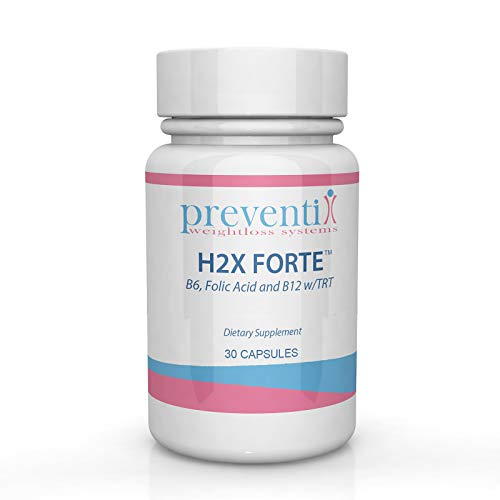 H2X FORTE (30 Count) Vitamin B6, Vitamin B12 and Folic Acid_Gentle All Nautral Water Retention Relief