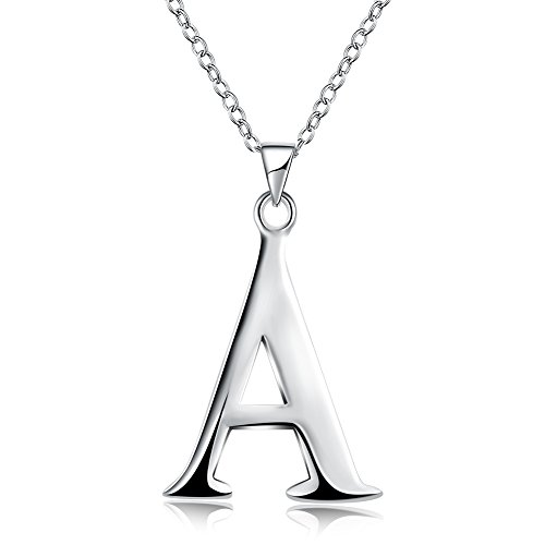 Alphabet Letter Pendant Necklace (MMTTAO Initial DIY 26 Letters Alphabet Personalized Charm Pendant Necklace for Women Silver Link Chain Clavicle Custom Name Jewelry - Letter A)
