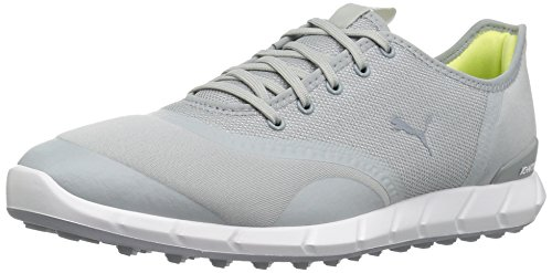 PUMA Golf Women's Ignite Statement Low Golf Shoe, Quarry/White, 8.5 Medium US