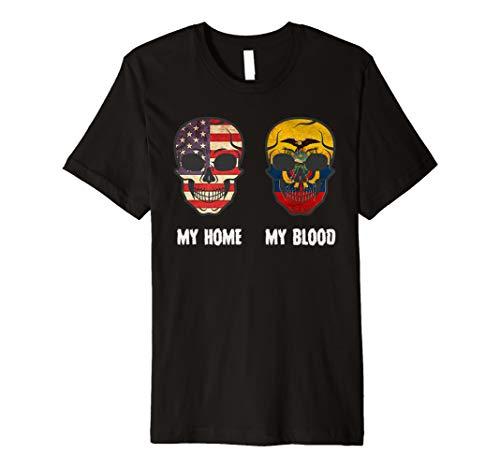 My Home my Blood Ecuador Flag T-Shirt Ecuadorian Premium T-Shirt
