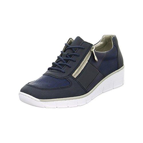 Rieker Zapatos De Mujer Doris 53714 14 Pacífico Azul