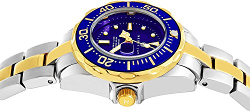 """Amazon.com: Henry Jay Womens Dainty 23K Gold Plated Two Tone Stainless Steel """" Specialty Aquamaster"""" Watch with Date: Watches"""