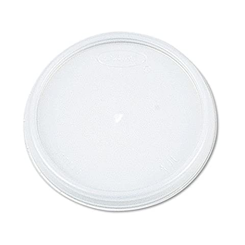 White, Vented Lid -- 1000 Per Case. by Dart Container - Dart Vented Lid