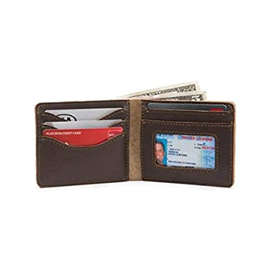 Saddleback Leather Co. Medium Full Grain Leather Bifold ID Window Wallet for Men Includes 100 Year Warranty