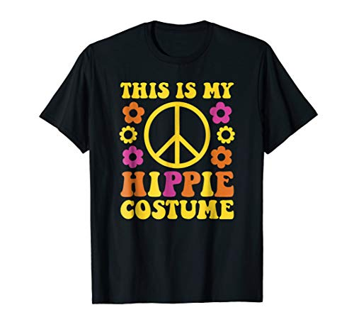 Hippie Costume T-Shirt - Halloween 60's 70's Party -