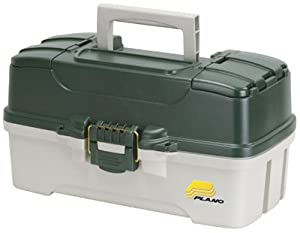 Plano Molding 620304 Fishing Tackle Box, Green Metallic/Off White, 3-Tray from PLANO MOLDING CO