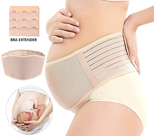 Maternity Belt, Pregnancy Support Belt, Back Support Protection- Breathable Belly Band That Provides Hip, Pelvic, Lumbar and Lower Back Pain Relief
