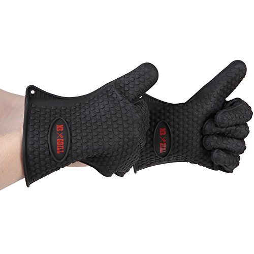 NON-Slip Grip Set of 2 Silicone Oven Gloves Make Handling Pots and Pans Easy - Withstands Heat Up TO 425°F (Oven And Grill Gloves compare prices)
