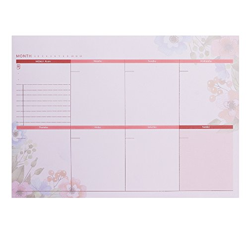 A4 Weekly (Meetory A4 Weekly Planner Desktop Pad Jobs List7 Days of the Week)