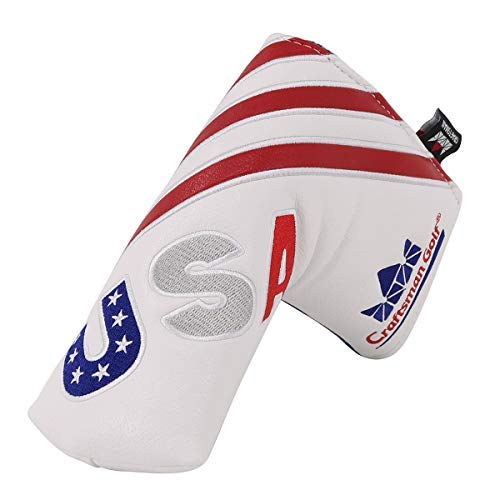 Craftsman Golf Red/White/Blue USA Flag Blade Putter Cover
