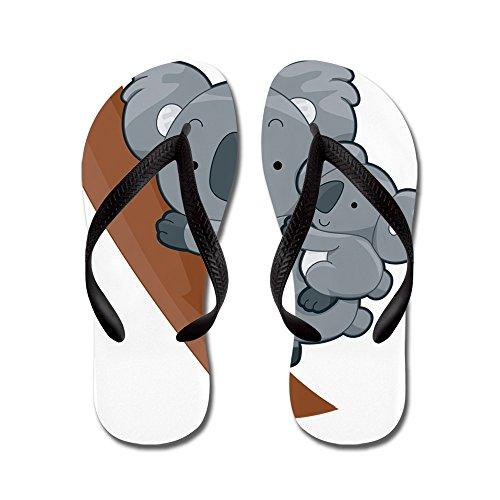 CafePress Two Koalas - Flip Flops, Funny Thong Sandals, Beach Sandals Black