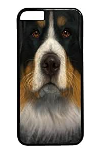 Custom DIY Case for iphone 6 Plus, Bernese Mountain Dog Face Hard PC Back Protective Case for iphone 6 Plus 5.5 by icecream design