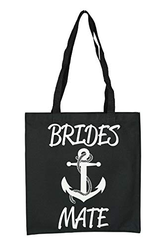 Nautical Anchor Brides Mate (Bridesmaid) Tote Bag for Wedding Shower, Bachelorette Party or Day of the Wedding by Zynotti