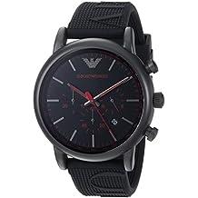 Emporio Armani Men's 'Luigi' Quartz Stainless Steel and Silicone Casual Watch, Color:Black (Model: AR11024)