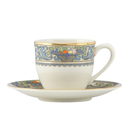 Lenox Autumn One Espresso  Cup and Saucer Set in Multicolor