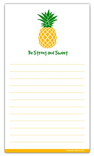 Grocery List Magnet Pad - Pineapple Shopping List Magnetic Pad - To Do Meal Planner (Notepad Pineapple)
