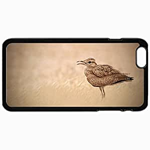 Fashion Unique Design Protective Cellphone Back Cover Case For iPhone 6 Plus Case Bird Nature Background Black